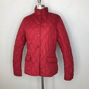 Eddie Bauer 550 down quilted puffer jacket red Med